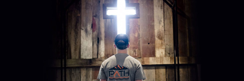 TVaughn Kneeling before the Cross