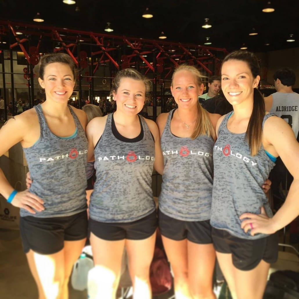 Crossfit Ilium Ladies Team Wearing Pathology Apparel Athletic Gear
