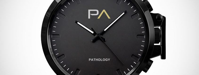 Black Pathology V1.0 Watch with black silicone band and quartz face