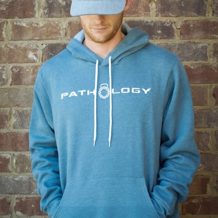 Front View of pathology Pullover Hoodie