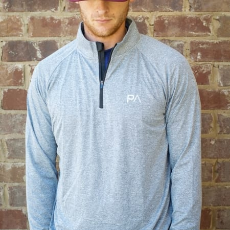 Forward Facing Image Quarter Zip Longsleeve