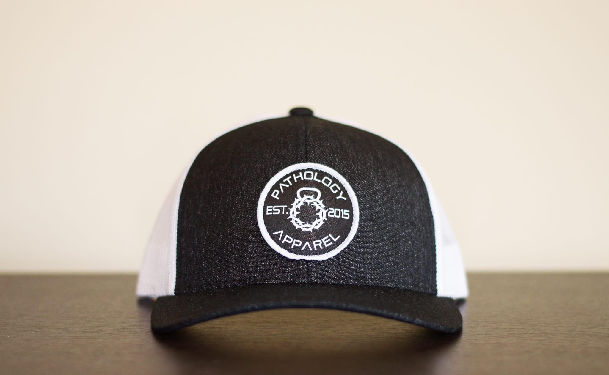 3f906f09b46c3 The Pathology Apparel Heather Black Patch Performance Hat
